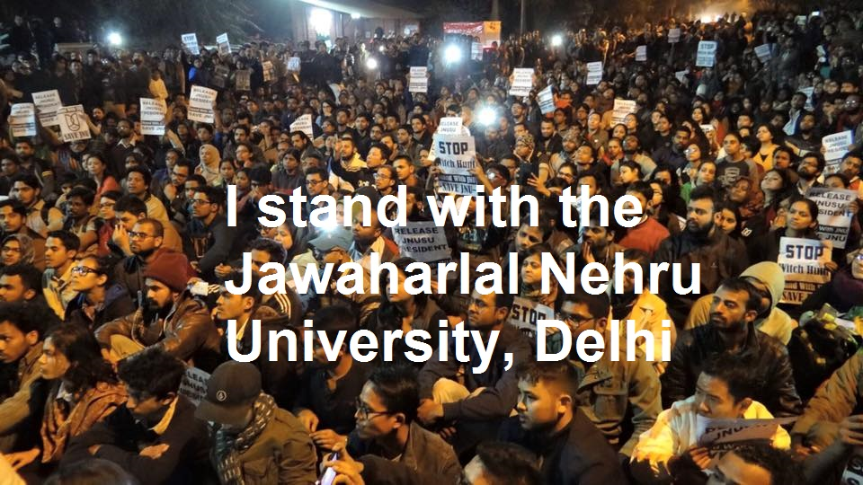 JNU-demonstration_Text