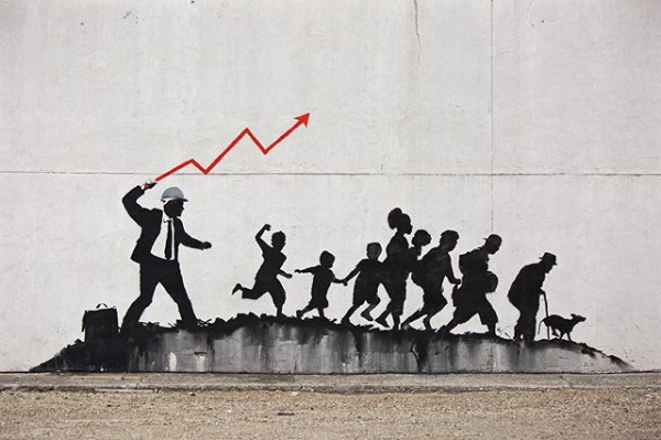 by Banksy, posted at https://www.instagram.com/p/Bgg6HUEDMCk/