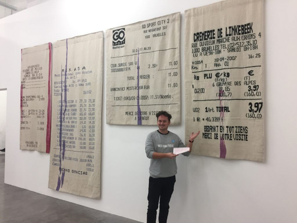 Gabriel Kuri's receipt tapestries
