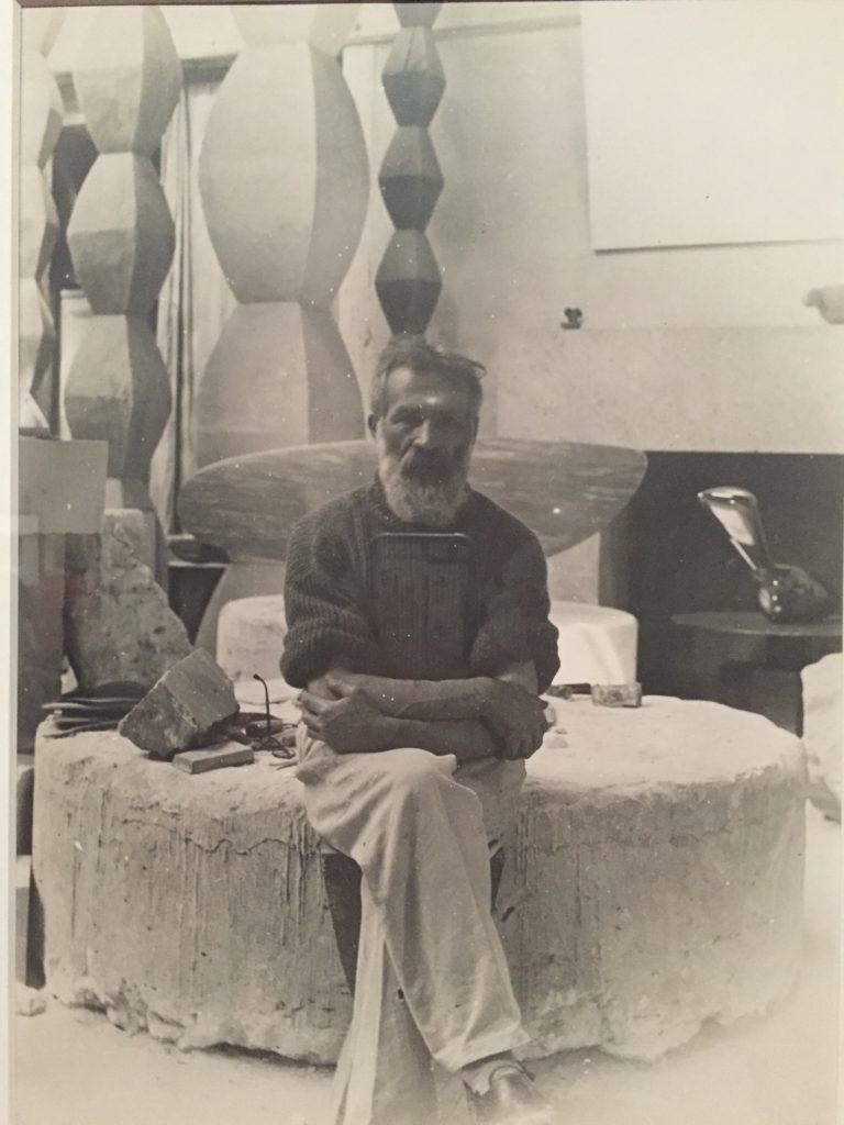 Brancusi in his atelier