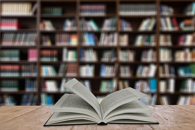 Book in a library